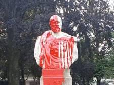 De nouvelles statues maculées de peinture à Ixelles