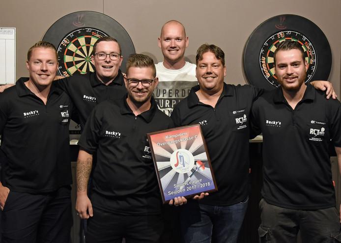 V.l.n.r. Pieter Otten, Wesley Bour, Rowdy Schoremans, Fabian De Lange, Wesley van Hoeyen en Dylan van de Velde.