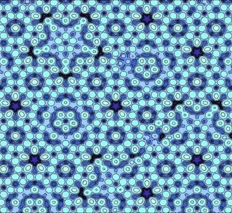 Model van een quasi-kristal. Beeld