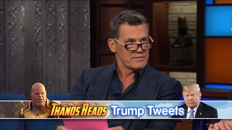 Josh Brolin leest tweets van Trump Beeld