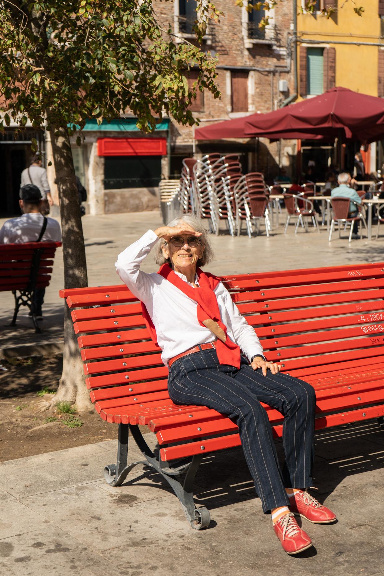 Donna Leon in Venetië: 'Ik wil geen grote projecten, geen doelen, geen idealen om te verdedigen. Ik wil alleen maar vertellen.' Beeld Marta Giaccone