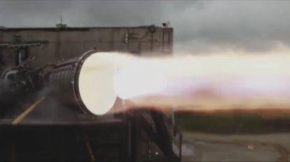 SpaceX toont de kracht van hun raketmotor