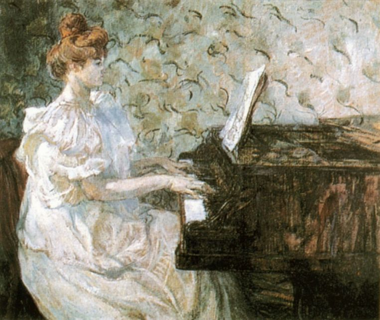 Misia Sert, geschilderd door Henri de Toulouse-Lautrec.