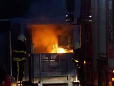 Perscontainer in brand op parkeerplaats EuroParcs in Kaatsheuvel