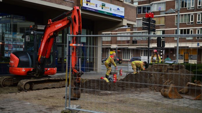 Gaslek in centrum Helmond.