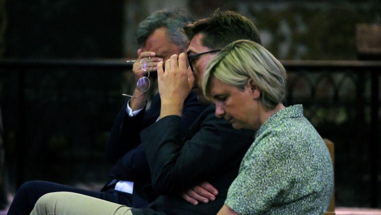Ook Vlaams minister Hilde Crevits woonde de begrafenisplechtigheid van Gerda Mylle bij.