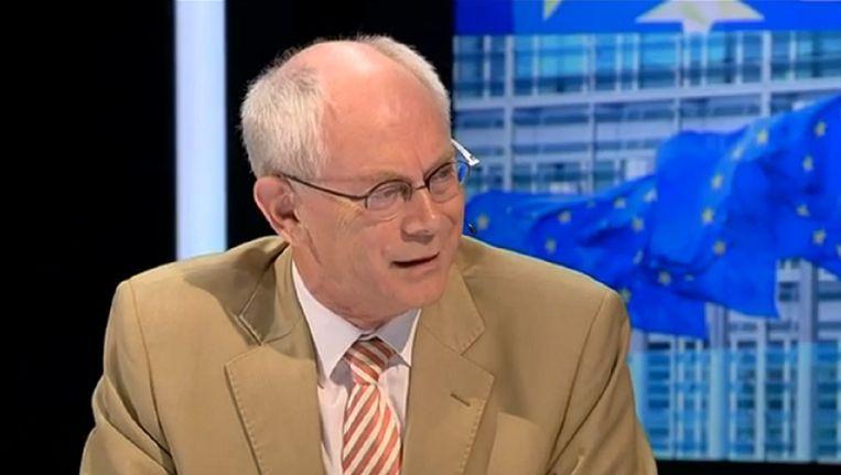 Van Rompuy vanavond in Terzake: 'de situatie nu is niet erger dan de crisis uit 2010-2013'.