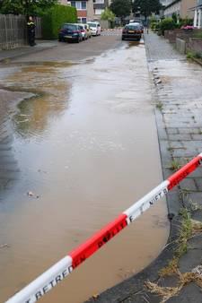 Gesprongen waterleiding in Veldhoven