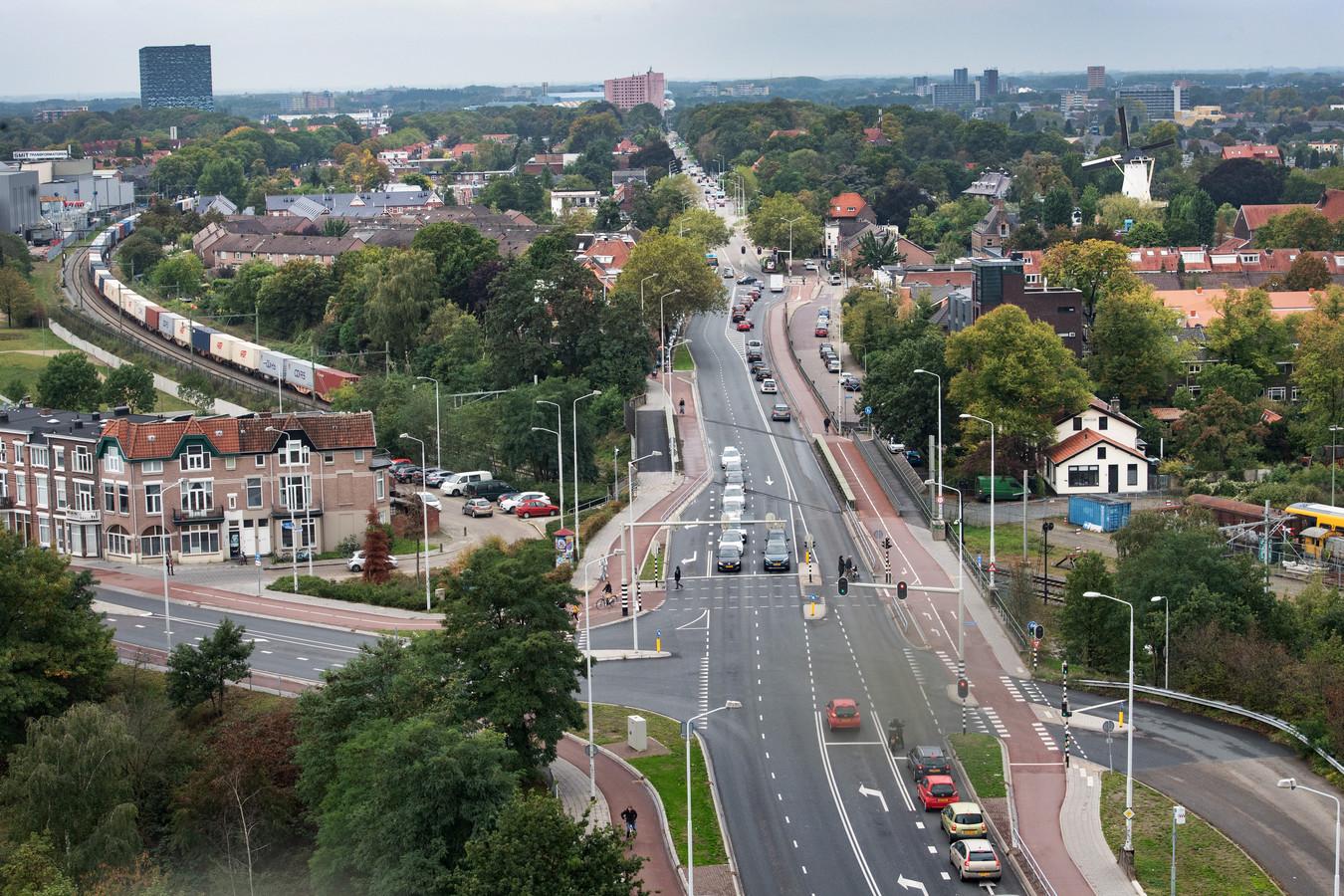 De Graafseweg staduitwaarts.