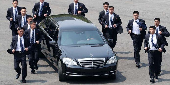 De gepantserde Mercedes-Benz van Kim Jong-un.