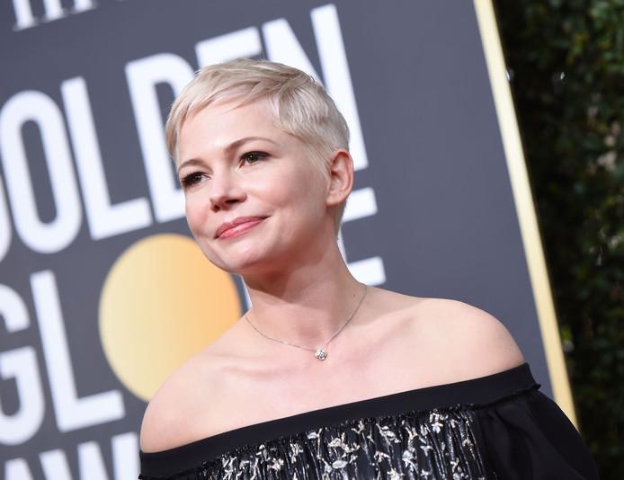 Michelle Williams kwam in het zwart naar de Golden Globes.