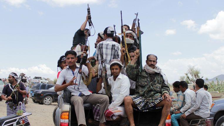 Opstandelingen in Jemen. Beeld AFP