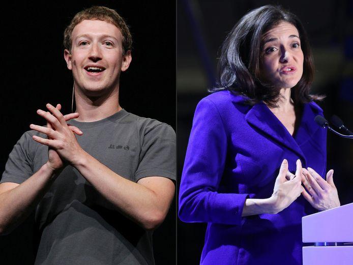 Mark Zuckerberg et la numéro deux de Facebook Sheryl Sandberg.