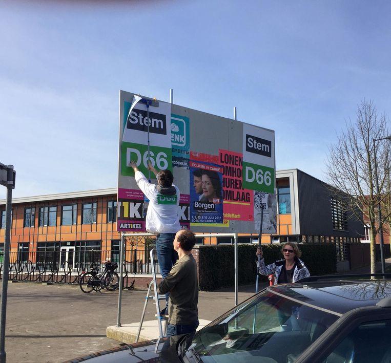 D66: `Het is plakoorlog.' Beeld