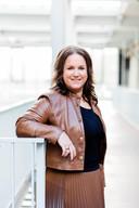 Debbie Mels, voorzitter van de regionale afdeling NVM Eindhoven-Helmond en makelaar bij het eigen kantoor Mels Lommers Makelaars in Eindhoven.