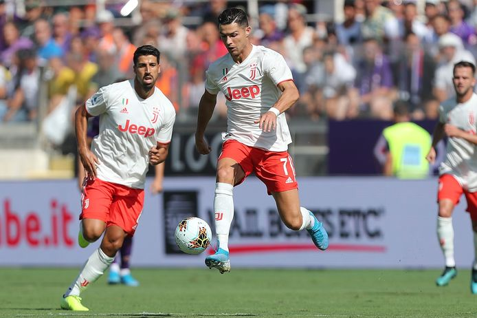 Cristiano Ronaldo in actie namens Juventus tegen Fiorentina afgelopen zaterdag.