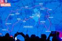 Zo had de route van de derde etappe in de Vuelta er zondag uitgezien, start en finish in Breda.