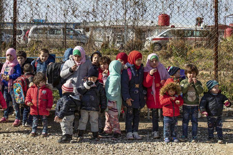 Kinderen in het Al-Hol-vluchtelingenkamp.