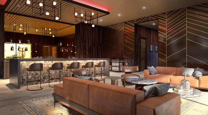 Le bar privé de la villa.