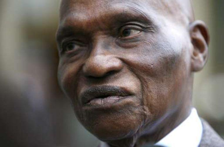 De Senegalese president Abdoulaye Wade.
