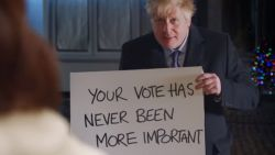 Boris Johnson maakt parodie op Love Actually: 'Brexit actually'