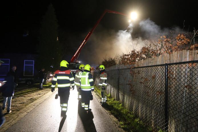 Grote schuur in brand in Heerewaarden.