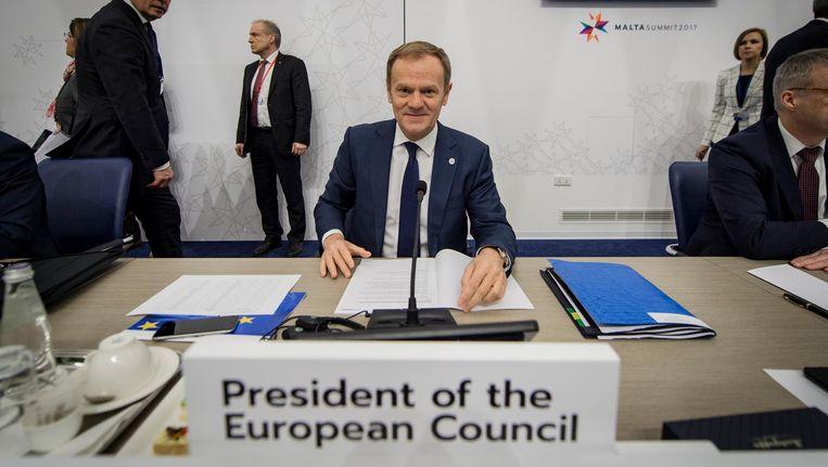 De stemming over Tusks kandidatuur staat over acht dagen op de agenda tijdens een EU-top. Beeld anp