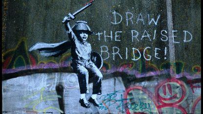 Vriendelijke glazenwasser redt muurschildering Banksy