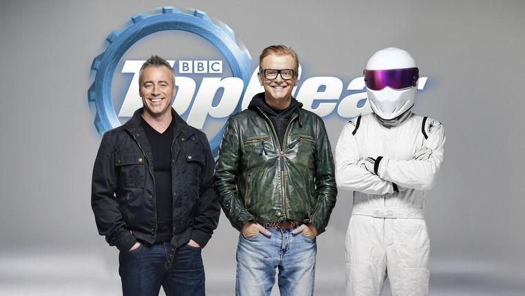 Presentatoren Matt LeBlanc en Chris Evans. Beeld BBC