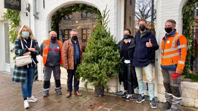 Winkeliers krijgen cadeautje van de stad: 300 kerstbomen in 30 straten