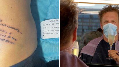 SHOWBITS. Pieter Loridon zet tattoo voor overleden vader en deze BV's gingen meteen naar de kapper
