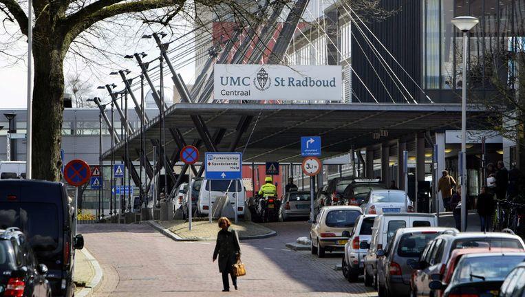 Exterieur van het UMC Sint Radboud in Nijmegen. Beeld null