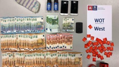 Drugsdealer opgepakt met 37 dosissen coke en bijna 4.000 euro cash