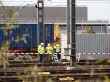 Goederentrein ontspoord in Eindhoven