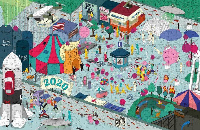 Gentse designers maakten 'Dear 2020, thanks for nothing', een puzzel van 1.000 stukjes met meer dan 100 ludieke verwijzingen naar het gekke jaar.