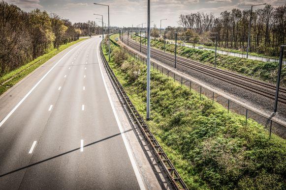 Lege autosnelwegen: het was geen ongewoon gezicht in volle coronapiek