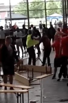 Tientallen supporters slaags na WK-wedstrijd Polen-Senegal in Antwerpen