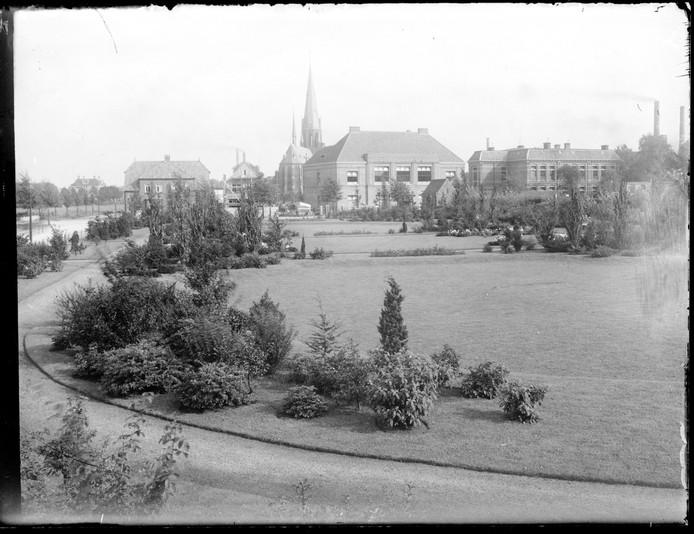 Lasonderpark, Enschede, 1925, historie, Jozefkerk, fotoarchief gemeente Enschede