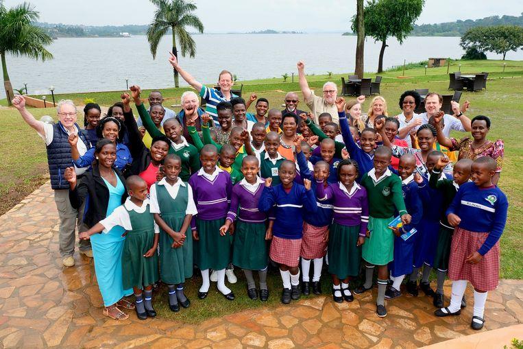 Een delegatie van Rotary Club Brugge Zuid is aanwezig in Oeganda.