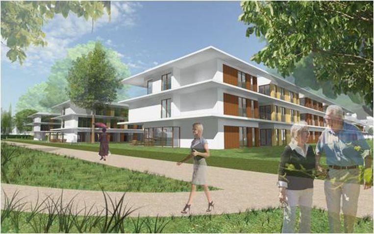 Een simulatiebeeld van de campus bejaardenzorg, zoals die vijf jaar geleden werd voorgesteld.