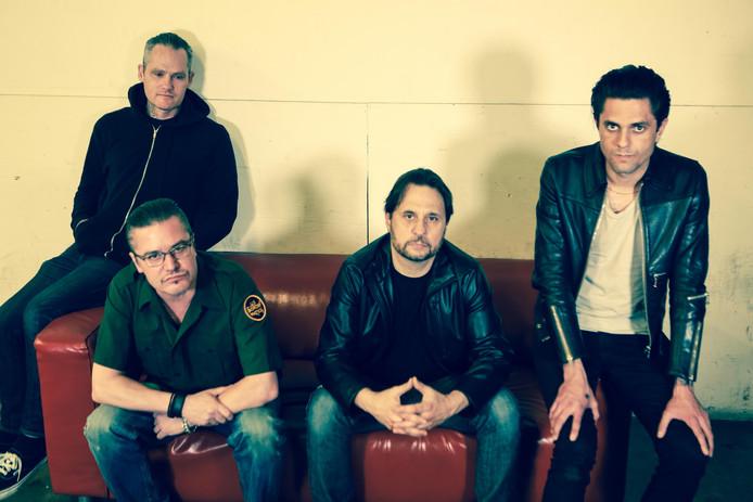 Dead Cross (vlnr): Mike Crain, Mike Patton, Dave Lombardo en Justin Pearson.