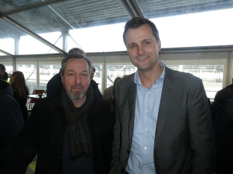 Arjo van Geffen (Bosman Bedrijven) en Frank Prins (Ballast Nedam Parking):
