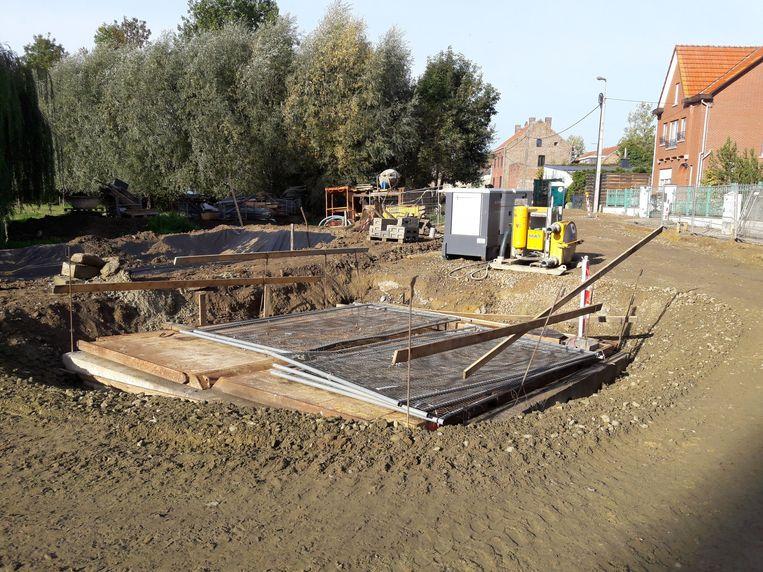 Het pompstation van Hoxem stak in oktober al in de grond