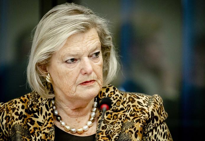 Ankie Broekers-Knol, staatssecretaris van Justitie en Veiligheid, tijdens een algemeen overleg in de Tweede Kamer