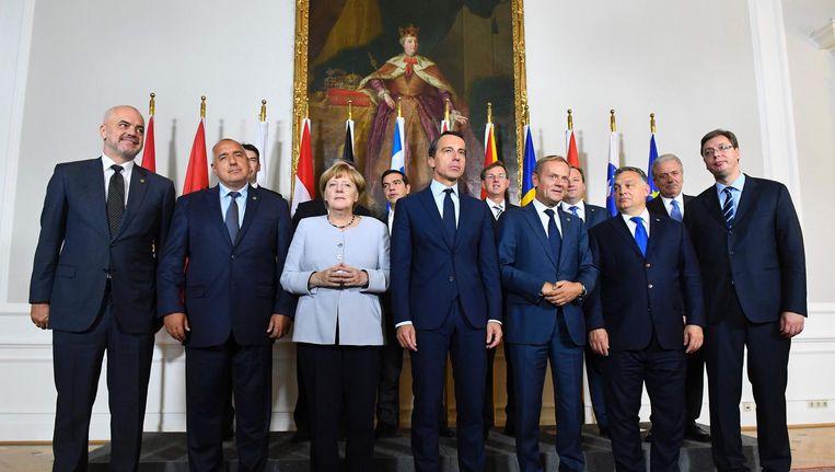 EU-top over migratie in Wenen. Beeld afp