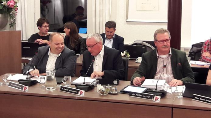 VVD-raadsleden (vlnr) Patrick Simons, Con van Beckhoven en Anton van Tuyl