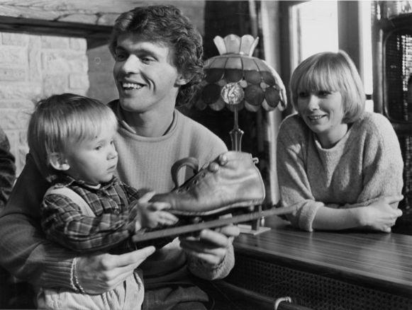 Frank Vercauteren met zijn Gouden Schoen in 1983.