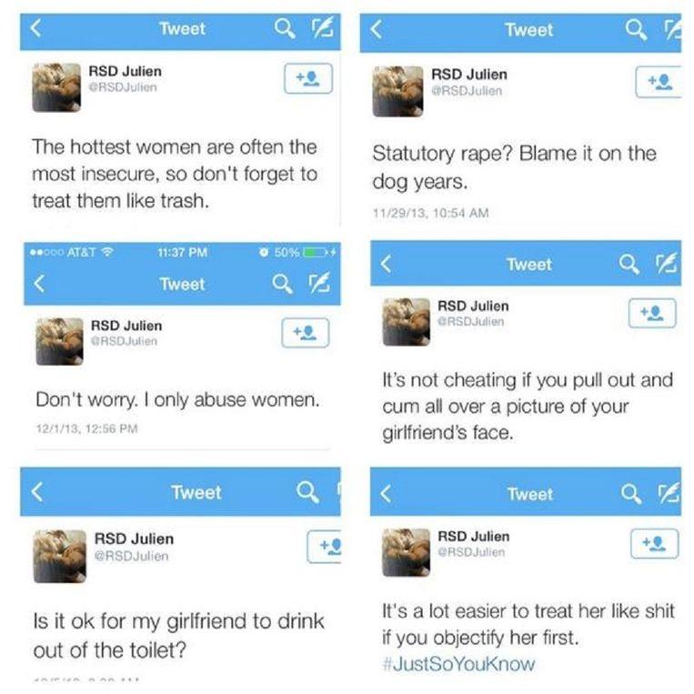 Uitspraken van Julien op Twitter. Beeld