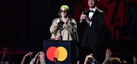 Lewis Capaldi en Billie Eilish winnen Brit Awards