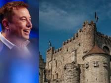 Oeps! Elon Musk eigent zich eventjes Het Gravensteen in Gent toe